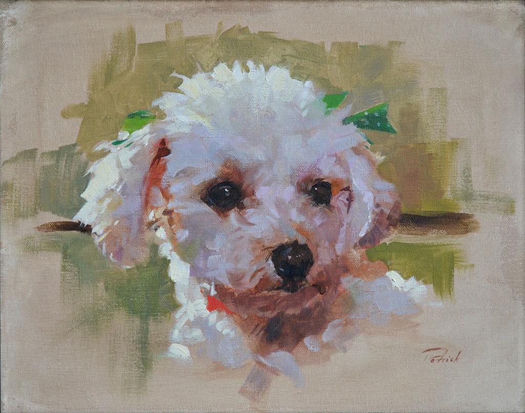 dog portrait painting