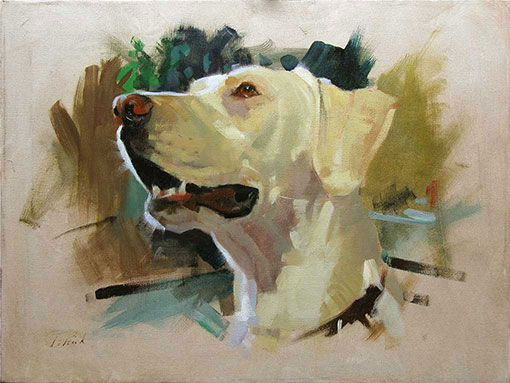 Patrick saunders fine arts paintings for Painting of your dog